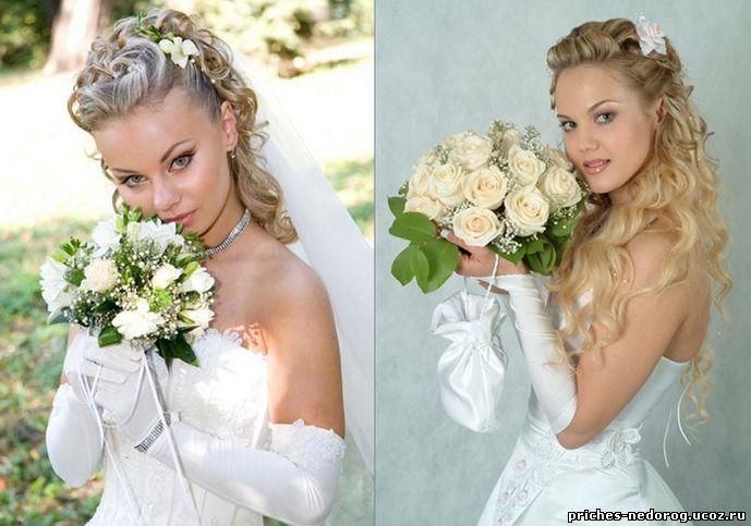 большой каталог фото прически свадебные